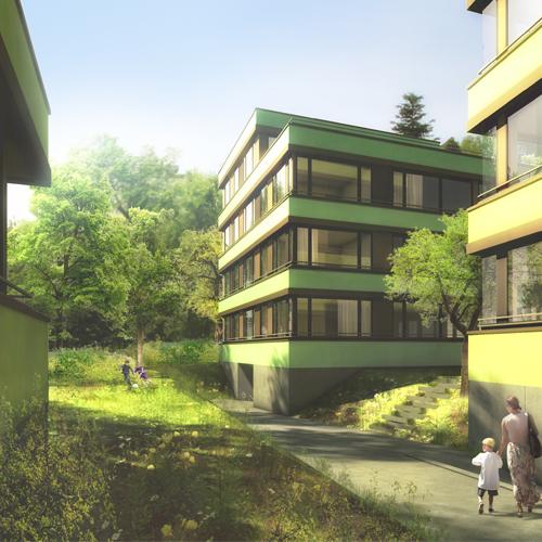 Wohnüberbauung Allschwil 2014, Harry Gugger Studio, Basel