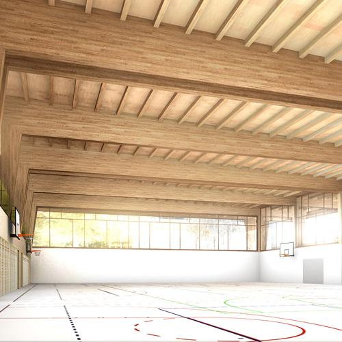Wettbewerb 3-fach Turnhalle Altdorf 2013, rba architekten, Olten